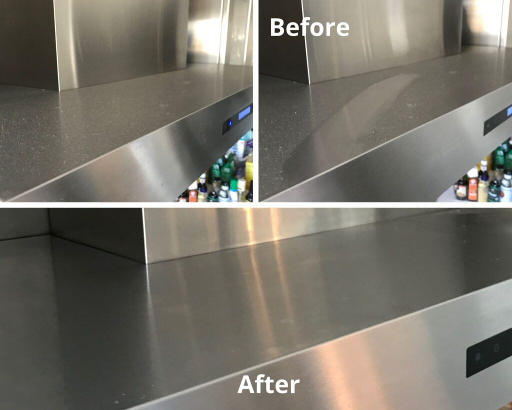 Before and after cleaning by White Glove Cleaner team