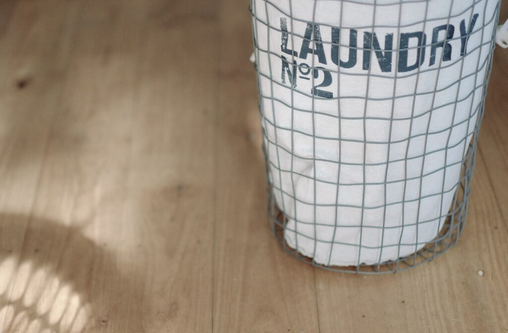 Laundry as an important part of a weekly cleaning
