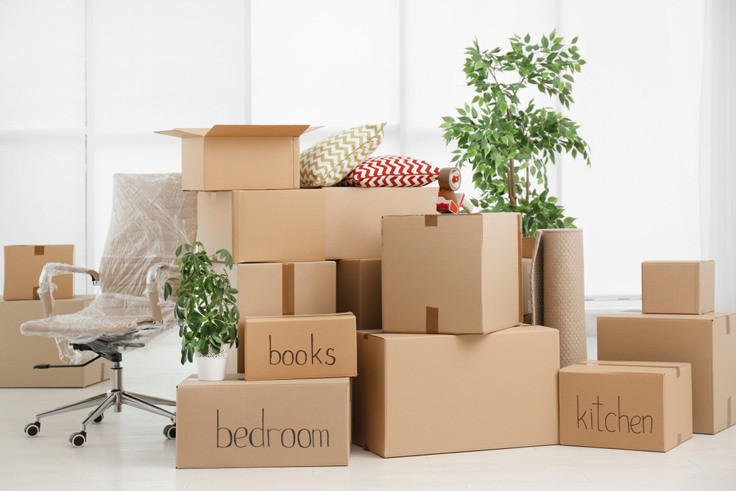 Move-in Packing Materials and Boxes