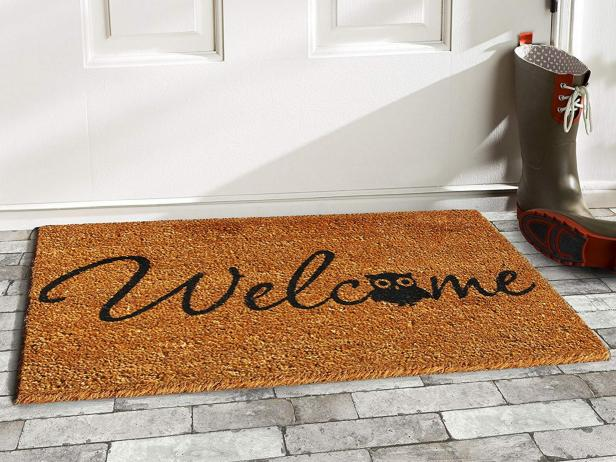 place a welcome mat after the post construction cleaning