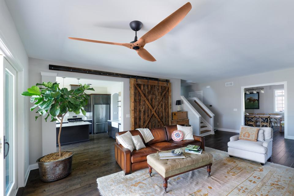 ceiling fan cleaning from the post-construction cleaning checklist
